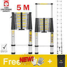 5M Multi-Purpose Aluminium Telescopic Ladder Folding Extension Extendable Steps