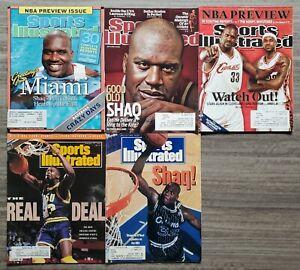 Lot of 5 Shaq Shaquille O'Neal Sports Illustrated Magazine NBA HOF Magic Heat