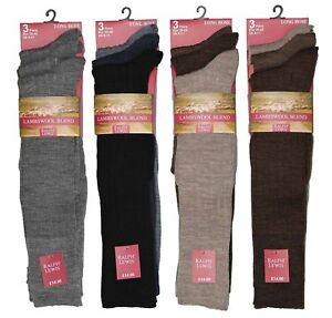 Mens Fine Lambswool Long Hose Ribbed Socks Long Classic Casual Sock UK Size 6-11