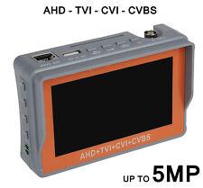 CCTV TESTER CAMERA TOOL 5MP TVI AHD CVI CVBS LCD DISPLAY BNC PTZ CONTROL