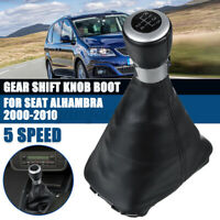5 Speed Gear Shift Knob Gaiter Boot Cover W/ Frame For Seat Alhambra