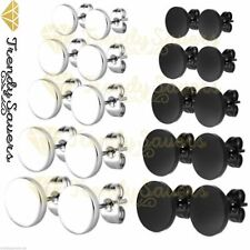 1 Pair Stainless Steel Mens Womens Silver Cheater Plugs Stud Earrings  3-12mm
