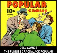 Golden Age DELL Publishing CRACKAJACK THE FUNNIES POPULAR COMICS Book Lot DVD 5