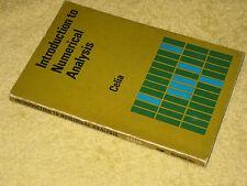 AN INTRODUCTION TO NUMERICAL ANALYSIS, C.W. Celia, PB 1st 1969. Pure mathematics