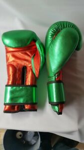 New Custom Made Shiny Leather Mexican Style boxing gloves any logo or Name