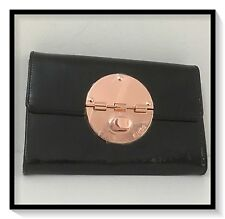 Mimco EXTRA LARGE TURNLOCK XL WALLET CLUCTH PURSE BNWT BLACK RRP$269 SQUARE