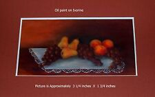 Miniature Still Life Oil on Ivorine Painting.  Free Shipping!