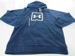 Under Armour Mens UA Rival Square Logo Hoodies 2XL 1329745 Nwt