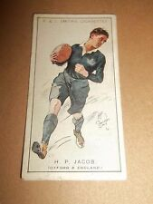 F & J SMITHS CIGARETTES ~ H. P. JACOB  No. 13 PROMINENT RUGBY PLAYERS ORIGINAL