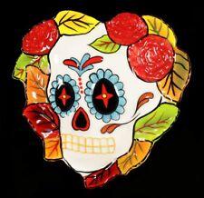 Corazón BOL- DAY OF THE DEAD CALAVERA - Hojas otoñales - Gothic Calavera Cuenco
