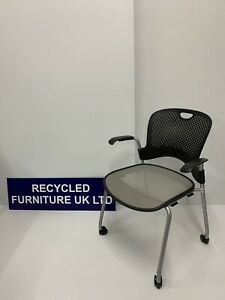 Herman Miller Caper Armchairs 27 Available, Grey  Mesh Chair, Stackable, £49 Ea