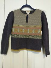 Neiman Marcus Exclusive Vintage Lambswool Keyhole Sweater Women's Small