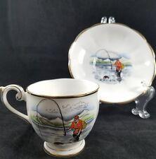 Vintage Queen Anne Fine Bone China Tea cup & Saucer  Seattle WA Souvenir Fishing