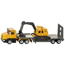 Low Loader Truck With Excavator - Siku 1611 Model Diecast