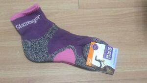 4 Pairs Slazenger Womens Socks for Hiking/Climbing/Outdoors Sports Coolmax