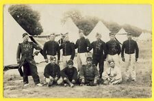 cpa France Carte Photo CAMP Tentes MILITAIRES SOLDATS du 104e régiment
