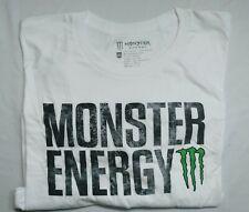 Monster Energy SS White T-Shirt W/Logo 100% Pre-Shrunk Cotton Men's Sz XXL NWOT
