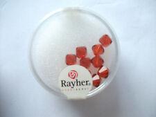 Rayher Swarovski Kristall-Schliffperlen 12 Stück 6 mm kupfergold Bastelperlen