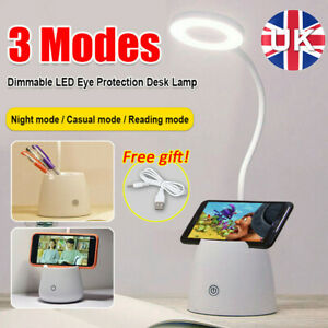 UK LED Desk Light Bedside Reading Lamp Dimmable Rechargeable Table Touch Control