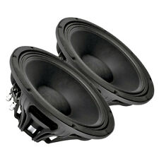 "Pair Faital PRO 12FH500 12"" Neo 8Ohm High Power Woofer Midbass 1000W 97dB 3"" VC"