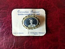 1953 Queen Elizabeth II Coronation souvenir Brooch