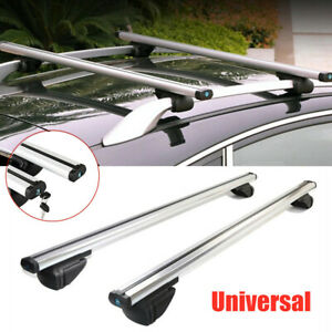 "48""/120cm Universal Cross Bar Top Luggage Roof Rack Cargo Rail Car SUV Aluminum"