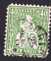 SUISSE-  N°:39 -  USED- YEAR 1862   CV : 60 €