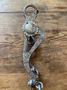 Vintage Marked Garcia SPADE Silver Horse Collectors Western Bit Vaquero