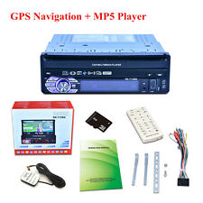 "7""  1DIN HD Touch Screen Car MP3 MP5 Player Bluetooth + 8GB GPS Navigation AM/FM"