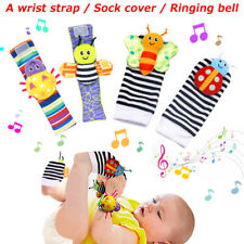 4pcs Soft Baby Socks Toys Wrist Rattles and Foot Finders Blige Smtf Cute Animal
