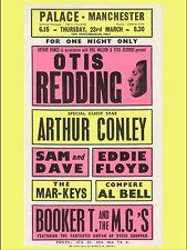"""Otis Redding / Arthur Conley Manchester 16"""" x 12"""" Photo Repro Concert Poster"""