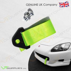 Lime Green Racing Tow Strap For Universal Track Car Motorsport Kit JDM Drift