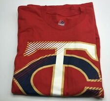 Majestic Minnesota Twins Men's T-Shirt Size Medium Brand New $28 Value