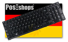 Orig. QWERTZ Tastatur Toshiba Satellite A660 A660D A665 A665D Schwarz Glänzend