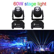 2PCS 60W RGBW Moving Head Beam Spot Stage Light DMX Club Bar Party DJ Lighting