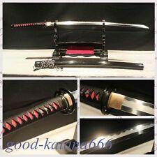 CLAY TEMPERED FOLDED DAMASCUS BLADE MUSASHI HIGH QUALITY JAPANESE SAMURAI SWORD