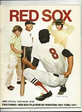 1972 Boston Red Sox Yearbook exc-near mint condition(see scan)