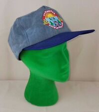 Vintage Madawaska Snowmobile Club Snapback Cap Grey Baseball Hat Be Smart Safe