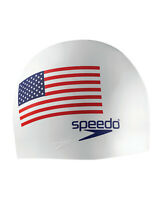 Speedo Silicone Flag Swim Cap - White