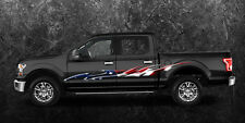 2 Car Truck American Flag Side Decals Graphics Stripes Vinyl #B758 Ameri Flag