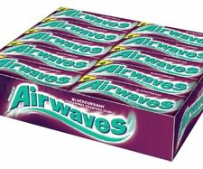 Full Box of 30 Wrigley's Chewing Gum Airwaves Sugar Free Blackcurrant Free P&P