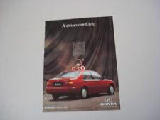 advertising Pubblicità 1993 HONDA CIVIC LSi