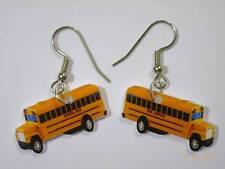 School Bus Earrings Yellow Bus Charms