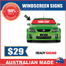 Car and Truck Windscreen Banner Signs - Australian Made - Ready Signs