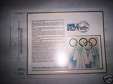FICHE TIMBRE JEUX OLYMPIQUES MONTREAL 1976 RARE N° 2584