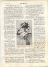 1901 Ms Coralie Blythe Silver Slipper At The Lyric