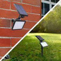 Solaire LED Etanche Extérieur Lampe Lumiere Chemin Jardin Eclairage Projecteur