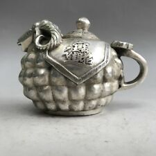 Collection Ancient Chinese Hand graving Cupronickel sheep Teapot v143