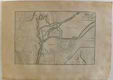 Meuse 55 plan de Verdun Ville Forte Eau-forte 1705 H. Van Loon Etching Map