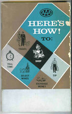 Vintage 1958 AAA Triple-A Travel Guide - Here's How!